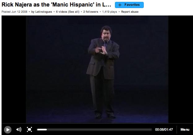 Rick Najera as 'Manic Hispanic'